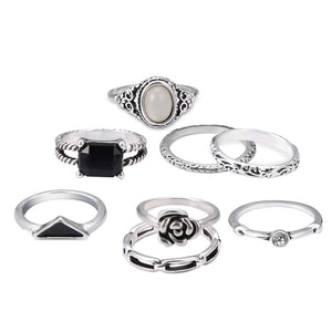 Boho Antiquish Ring Set