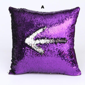 FIFTYSHADESOFDIVA Glitter Sequins Throw Pillow Case