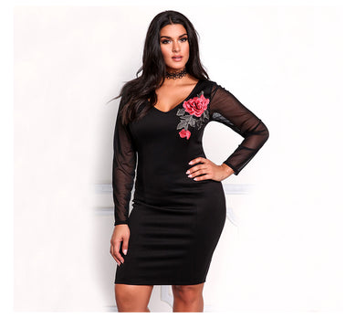 FIFTYSHADESOFDIVA Sexy Rose Dress (Curvy Sizes Avaliable)