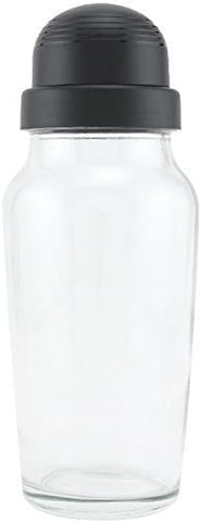 Libbey Glass Cocktail Shaker with Black Lid - 19.75 oz (1)