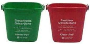 Image of San Jamar KP97RD 3-Quart Red Kleen-Pail Container