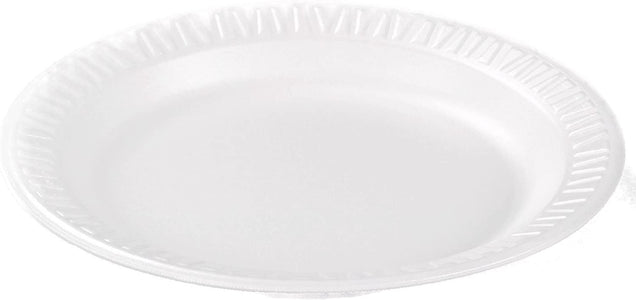 "Dart 6PWC 6"" Foam Plate, White Color, Concorde Non-Laminated Foam Dinnerware"