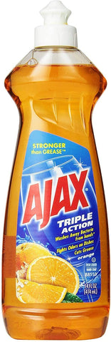 Image of Ajax Triple Action Dish Liquid, Orange, 14 Fluid Ounce