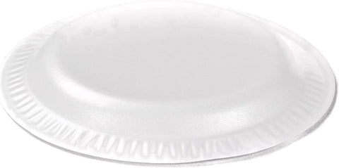 "Image of Dart 6PWC 6"" Foam Plate, White Color, Concorde Non-Laminated Foam Dinnerware"