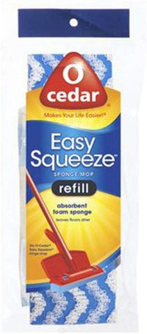 O-Cedar Cell Sponge Mop Refill, Assorted
