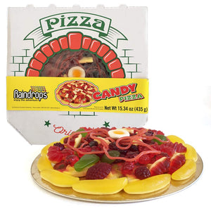 "Raindrops Gummy Candy Pizza - 8.5"" of Yummy Toppings Made from Gummy Bears, Gummy Fruits, Licorice Ropes and More - Fun and Unique Candy Gifts (15.34 OZ)"