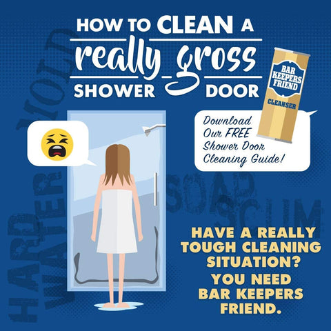 Bar Keepers Friend Powder Cleanser (12 oz) -Multipurpose Cleaner & Stain Remover - Bathroom, Kitchen & Outdoor Use - for Stainless Steel,Copper,Brass,Ceramic,Porcelain,Bronze,Aluminum Cookware