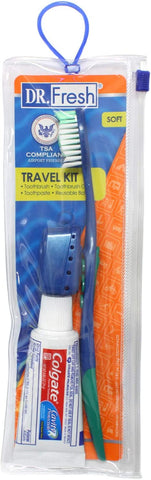 Toothbrush & Cover Travel Kit with Colgate Toothpaste (12 Pack)