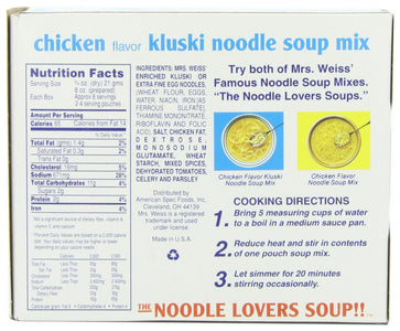 Weiss Chicken Kluski Noodle Soup, 5-ounces (Pack of12)