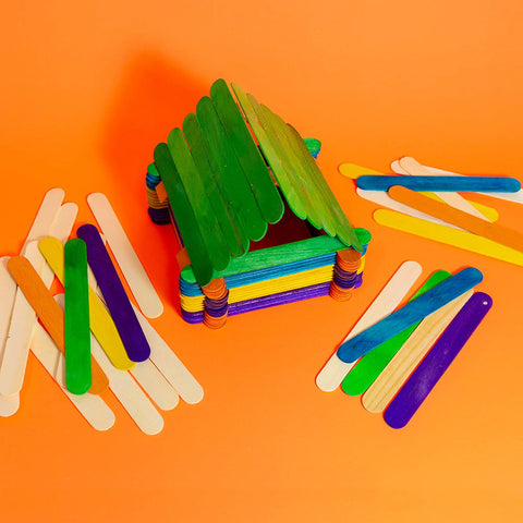 Image of BAZIC Jumbo Colored Craft Stick 50 Per Pack