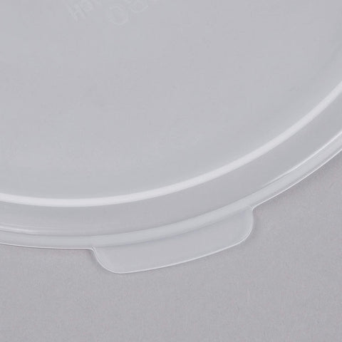 Image of Cambro RFS4PP190 4 Qt. Translucent Round Storage Container with RFSC2PP190 Translucent Lid