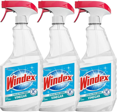 Windex Vinegar Cleaner, 23 Fl Oz (Pack of 3)
