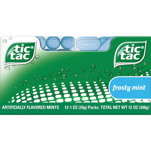 Tic Tac Fresh Breath Mints, Frosty Mint, Bulk Hard Candy Mints, 60 Count (Pack of 12)