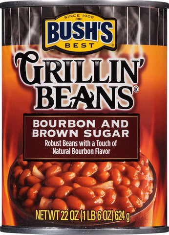 Image of Bush's Best, Grillin' Beans, Bourbon and Brown Sugar, 22oz. Can (Pack of 3)