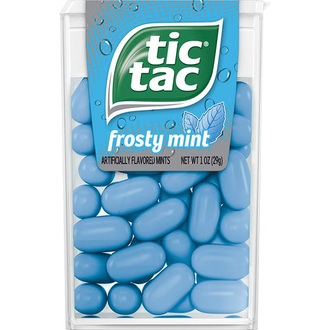 Image of Tic Tac Fresh Breath Mints, Frosty Mint, Bulk Hard Candy Mints, 60 Count (Pack of 12)