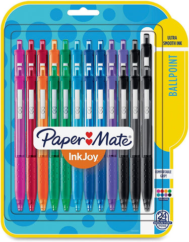 Image of Paper Mate 1945926 Inkjoy 300 RT Retractable Ballpoint Pen, 1mm, Assorted, 24/Pack