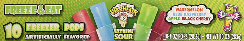 Warheads Extreme Sour Freezer Pops Freeze and Eat 10 Pops Pack of 2