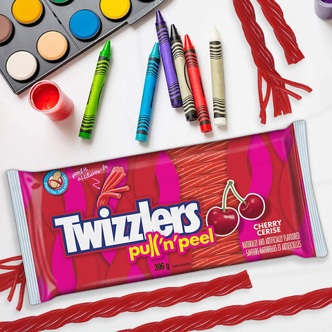 Image of Twizzlers Cherry Pull N Peel Party Pack, 396 Gram/13.96 Ounces {Imported from Canada}