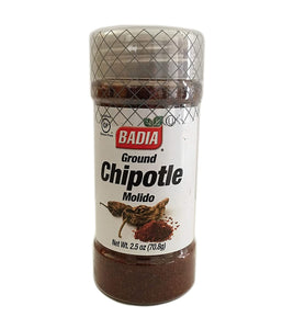 2.5 oz Bottle Chipotle Ground Powder Kosher / en Polvo Molido