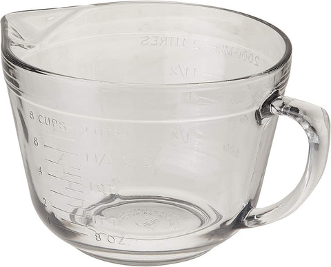 Anchor Hocking 2 Quart Batter Bowl with White Lid