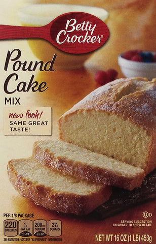 Image of Betty Crocker, Pound Cake Mix, 16-Ounce Box (Pack of 4)