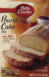 Betty Crocker, Pound Cake Mix, 16-Ounce Box (Pack of 4)