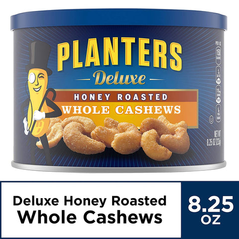 Planters Deluxe Honey Roasted Whole Cashews (8.25 oz Jar)