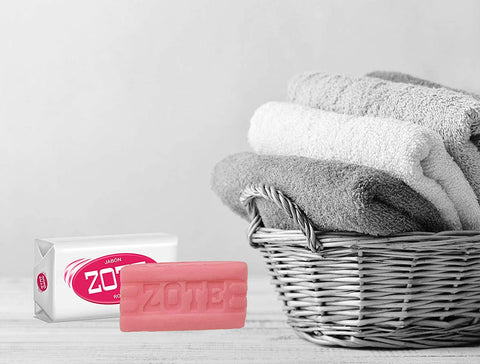 Image of Zote Laundry Soap Bar, Stain Remover Laundry Detergent for Clothes, Catfish Bait, Super Washing Travel Jabon Para Lavar Ropa, Pink Underwear Clothes Washing Soap (400 grams), Pack of 2