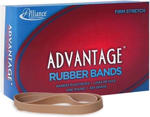 Image of Alliance Rubber 27075 Advantage Rubber Bands Size #107, 1 lb Box Contains Approx. 40 Bands