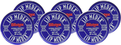 Blistex Lip Medex External Analgesic/Lip Protectant 0.25 oz (Pack of 6)