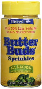 Butter Buds Sprinkles, Butter Flavored Granules, 2.5 Ounce
