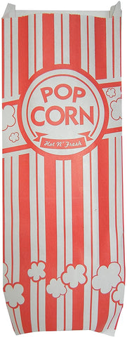 Image of Carnival King Popcorn Bags 2 oz, 200 Classic Red and White Bags (200 Bags)