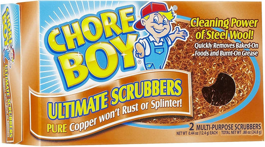 Chore Boy Copper Scouring 4 pack of 2 pads
