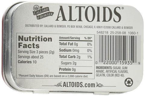 Image of Altoids Curiously Strong Mints, Cinnamon, 1.76oz Per Tin, 6 Tin Pack