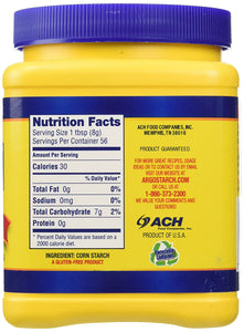 Argo 100% Pure Corn Starch, 16 Oz, Pack of 2