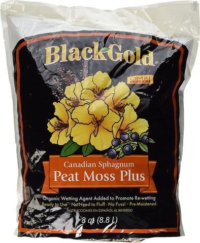 Image of Sun Gro Horticulture Black Gold Peat Moss Plus