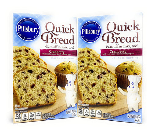 Pillsbury Cranberry Quick Bread Mix, 15.6 oz, 2 pk