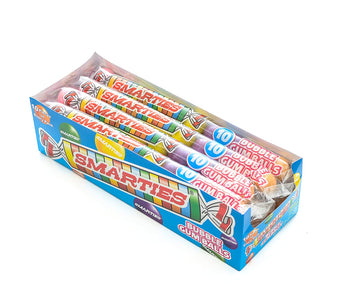 Smarties Bubble Gumballs (12 Tubes with 10 Gumballs Each )