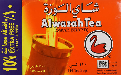 Image of Alwazah Tea, 100% Pure Ceylon, 110-bags Pack of 2- Total of 220 Tea Bags