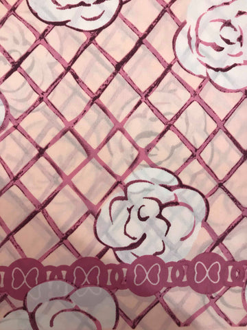 Pink Rose Silk Scarf