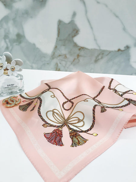 On Wednesday's We Wear Pink Silk Scarf