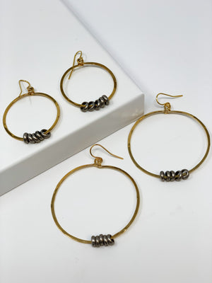ROLO HOOP EARRINGS