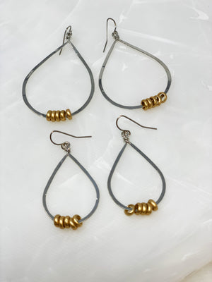 ROLO TEAR DROP HOOPS
