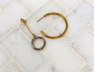 GLOBE JACKET HOOP EARRINGS