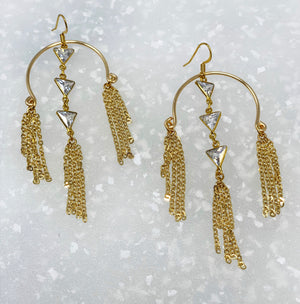 ANNA GOLD TRIANGLE EARRINGS