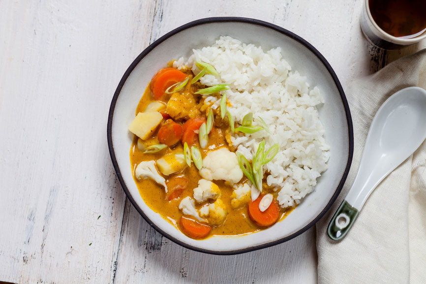 Slow Cooker Vegetable Curry with Rice