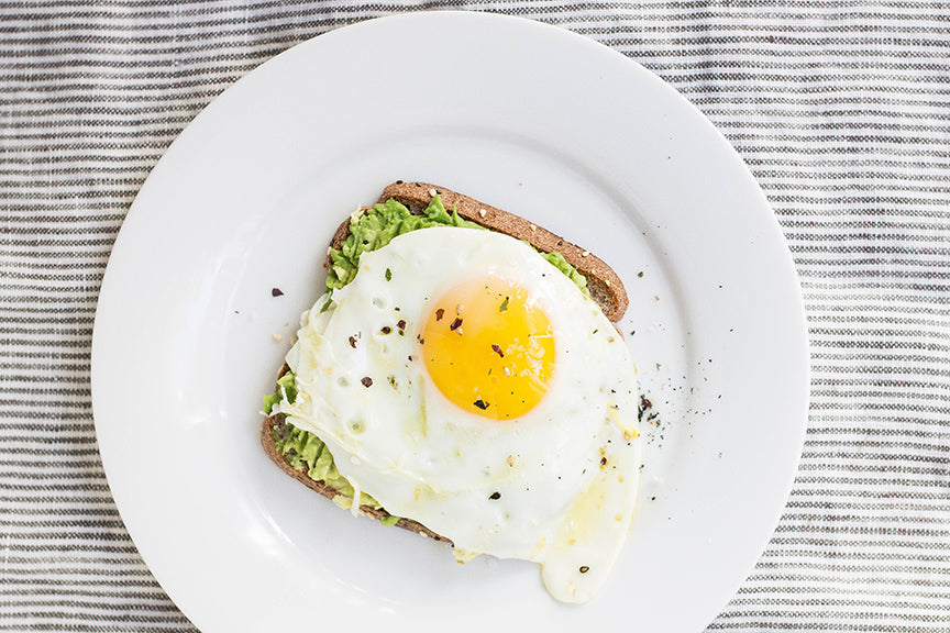 Fried Egg With Guacamole on Toast