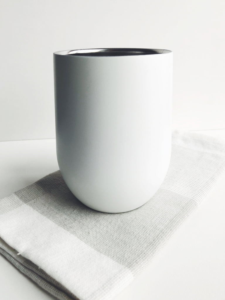 Modern White Stainless Steel Tumblers