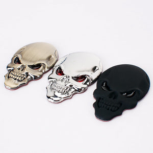 3D Skull Car Motorcycle Sticker