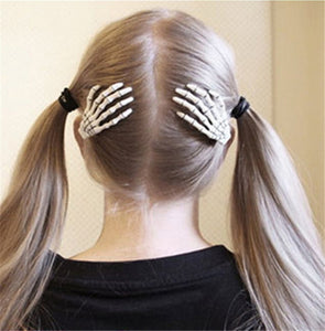 Skeleton Hair Clips